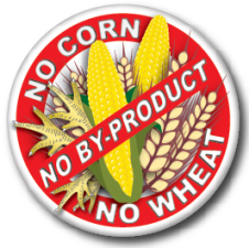 No corn, wheat, by-product sign