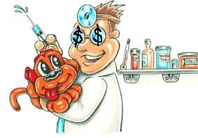 Roger Biduk-Veterinarian Dollar Signs Eyes Vaccinations