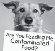 dog contaminated food sign